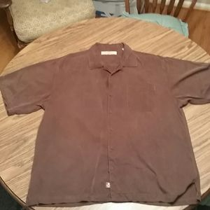 Tommy bahama ss button down,L, brown